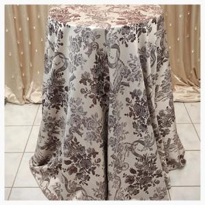 Chocolate and Silver damask